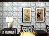 rotary screen textile printing on 3d wallpapers