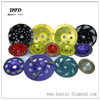 Metal bonded diamond grinding cup wheels for concrete and stone floors