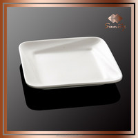 Earthware pretty fluted foldable folding square plate