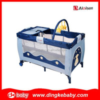 2015 hot selling plastic baby playpen,baby portable cot,baby playpen animal print DKP2015132