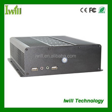 Dual mini itx case ZPC-S120 slim computer case tower