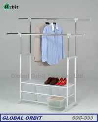 multifunctional clothes hanger with storage cabinets