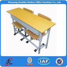 durable primary school high school desk kids classroom desk adjustable double metal wood children study desk