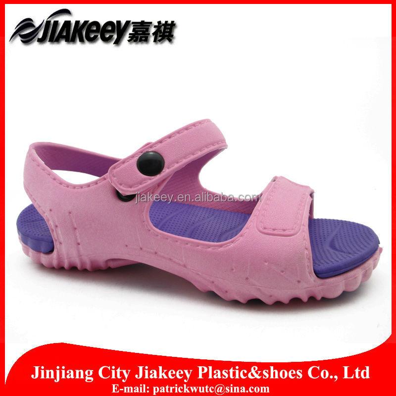 Fashio<em></em>nable trendy new design colorful hot summer eva sandal for girl for children