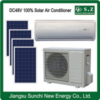 Off grid hot sale DC48V split best use solar wall unit air conditioner