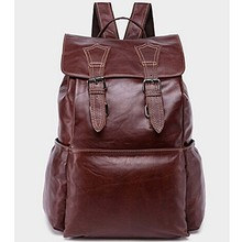 Hotsale in alibaba boy school leather bag man backpack leather M3109