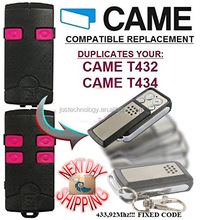 CAME T432, T434 universal remote control replacement transmitter, 433.92Mhz fixed code clone