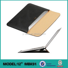 Manufacture leather sleeve with stand for Apple MacBook Air 12'