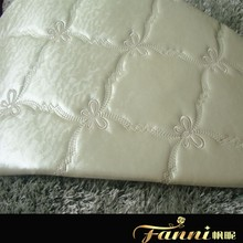 pvc leather with sponge for home decoration/synthetic leather with foam backing