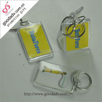 Promotion gift plastic keyring cheap keychain with logo