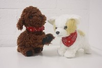 Battery operated electric walking Teddy dog toy for kids