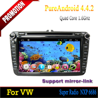 "ROM 16GB Quad-core Android 4.4 8"" touch screen car dvd for VW Passat 2006 2007 2008 2009 2010 2011 2012"