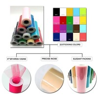 China supply nylon/polyester ready goods tulle roll in mixed color for sample order