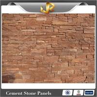 Red Color Sandstone Panels Decorative Brick Wall