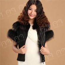MBA Furs latest new style sheepskin fur with fur cuff