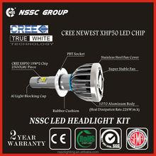 NSSC Factory Original Design cree led headlamp, Error Free cree headlamp 38w 4500lm headlight tuning light