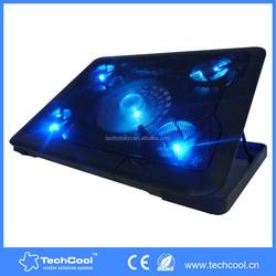 "wholesale 5 Fans 10""-17"" Laptop cooling pad Blue LED Light USB Port notebook Stand"