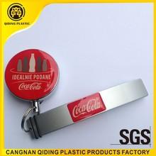 Retractable key chain beer bottle opener