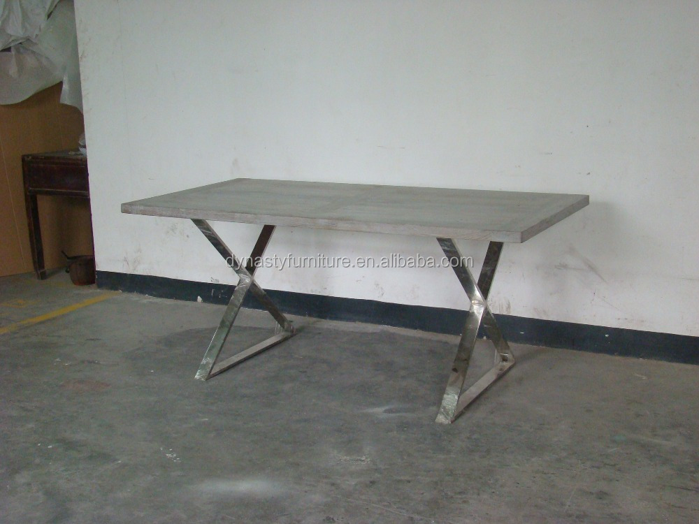 Reproduction Furniture With A Metal Solid Wood Table Buy