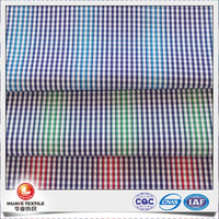 high quality yarn dyed 100 cotton poplin fabric plain cloth for shirt