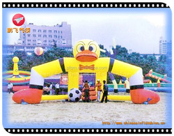 lovely duck factory price inflatable for entertainment, sport inflatable