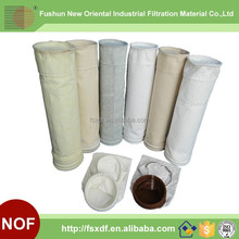 500 gsm - 800 gsm Dust Filter Bag , Non Woven Filter Bag High Efficiency