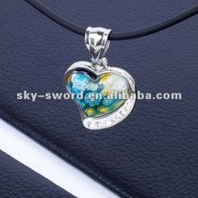 New Design Natural Stone Heart and Wing Pendant Accessories