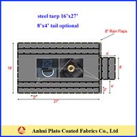 flame retardant black heavy duty steel tarp 16x27