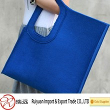 2015 Alibaba Fantastic Colorful Laser Cut Customized Felt Leisure Bag Made in China
