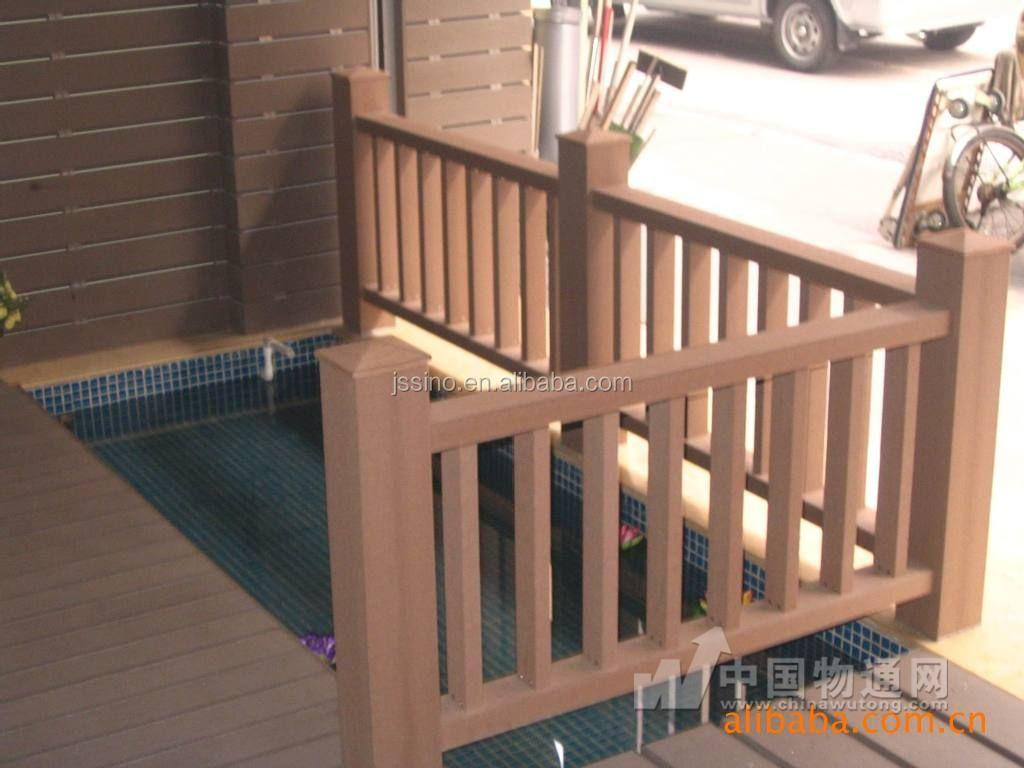Waterproof Sanding Crack Resistant Wpc Wooden Plastic Composite Handrails For Outdoor Steps