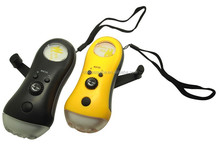 dynamo flashlight rechargable torch light with radio