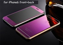 9H Hardness Round Angle Low Price Anti Fingerprint Mirror Screen Protector For Iphone 5/5g/5s/5c