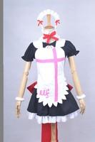 New Athemis Love live cosplay outfit Kousaka Honoka Performance Cosplay Costume Girls Sexy Maid Dress Served Coffee Shop