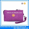 Online shopping nylon women zipper wallet phone case