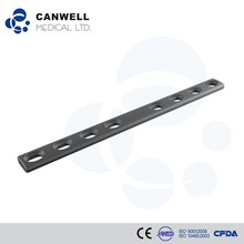 Canwell Titanium Orthopaedic Large Fragment Implant Straight Plate 4.5mm LC-DCP Plate, broad