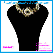 Sunshine flower statement necklace crystal collar 2015 jewelry for women
