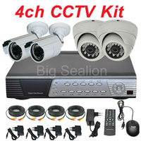 Sony ccd cctv camera and 4 ch H.264 DVR digital slr camera kits 3 years warranty