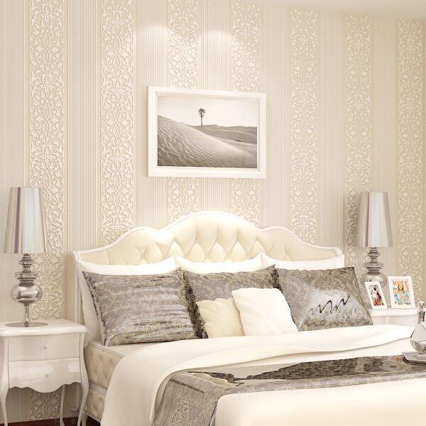 Simple llano no tejido papel pintado moderno rayas - Papel pintado dormitorio moderno ...