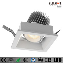 Single Square Double Head Rectangular 80mm 7W 10W 70mm cut out LED Downlight Adjustable