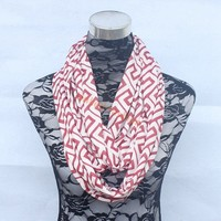 Stocks Jersey knit Cotton wine greek key wholesale scarf loop Scarf Great gift 12 colors available