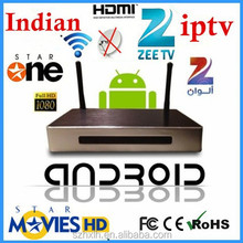 2015 Cheapest real player indian tv box RK3188 quad core full hd 1080p porn video android tv box 4.2.2 Iptv Box Indian Channels