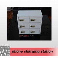 sopower phone charging station 6 docks solar cell phone charger
