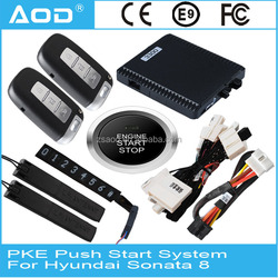 For Hyundai Sonata 8 low equipped smart automatic keyless start stop remote engine start system with GPS
