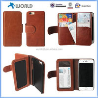 OEM logo print wallet leather case for iphone 6s with low price