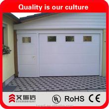 garage door with pedestrian door and windows insert