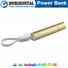 portable usb charger 2600mah Power Bank ,Mini Keychain Manual for Power Bank Battery Charger