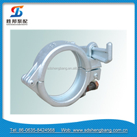 Zoomline Hi-Mn13 steel /precision casting /painting /2.5'' concrete pump parts snap clamp coupling / joint /pipe locking