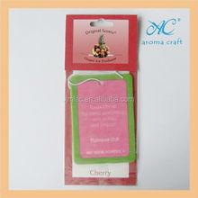 Promotional OEM printed paper air freshener corporate anniversary cards
