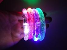 Hot sell led Glow bracelets Colorful flashing Concert led bracelet PMMA led bracelet
