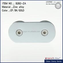 Silver Oxidation Aluminum Cast Square Glass Clamp Polish